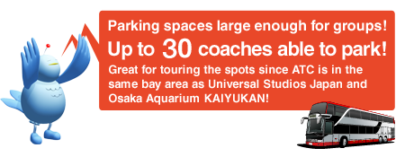 Parking spaces large enough for groups! Up to 60 coaches able to park!
